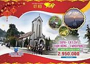 Tour Sapa - Cát Cát - Hàm Rồng - Thác Bạc - Fansipan 3 Ngày 1/1/2017
