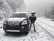 Thị Trấn Sapa Xuất Hiện Tuyết Rơi Đầu Năm Mới