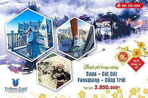 Tour Hà Nội - Sapa - Cát Cát - Hàm Rồng - Thác Bạc - Fansipan TẾT ÂM LỊCH 2020